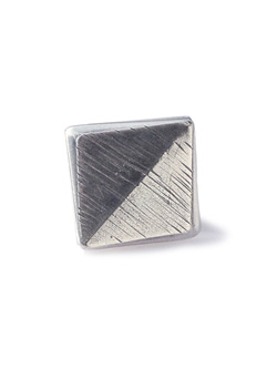 Silver African Studs Badge