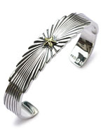 Starlight Bangle Silver Plated Brass [15AH-331]