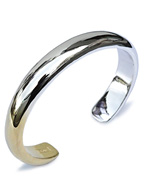 Round cuff antique silver 18k gold plated