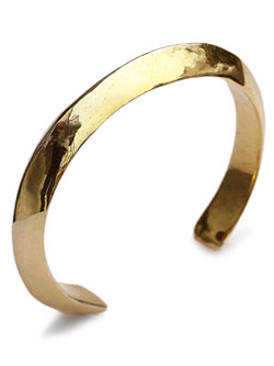 Triangle cuff 18k gold plated