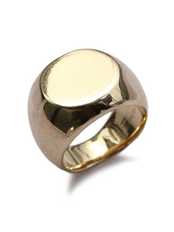 Chevalier ring 18k gold plated