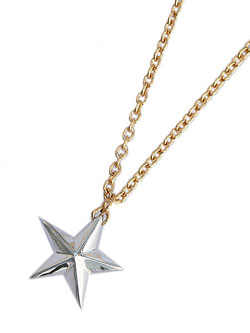 SILVER STAR NECKLACE (GOLD×SILVER)