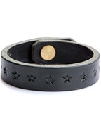 STAR STAMP LEATHER BRACE(BLACK)