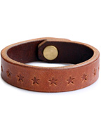 STAR STAMP LEATHER BRACE(BROWN)