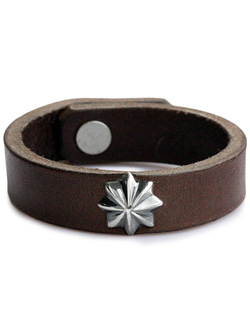 CONCHO LEATHER BRACE(DARK BROWN)