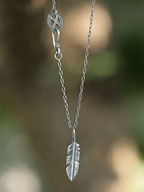 Eternal Feather Necklace  [15AO-110 ]