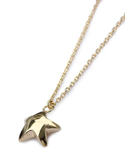 Star necklace 18k gold plated