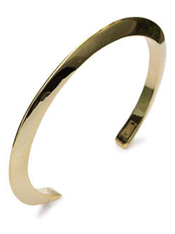 Triangle  thin cuff 18k gold plated