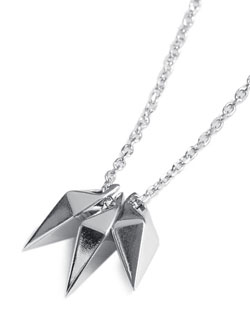 3JAW SHARD NECKLACE (Silver)