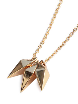 3JAW SHARD NECKLACE (Gold Plated)