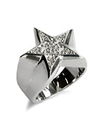 STAR PAVES PINKY RING (SILVER)