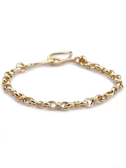 Wrapped link chain  bracelet 18k gold plated