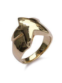 Star ring 18k gold plated