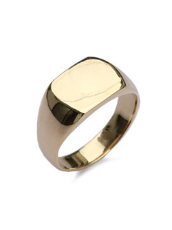 Mans ring 18k gold plated