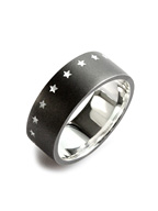 THIRTEEN STAR RING (MATTE BLACK)