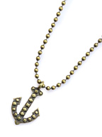 Vintage anchor ball chain necklace