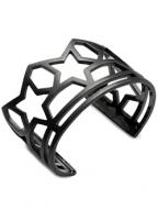 SKELETON FIVE STAR BANGLE (MATTE BLACK)
