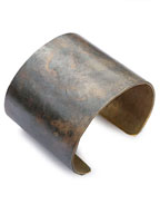 "2"" Brass Cuff (work patina)"