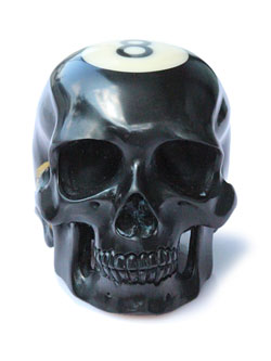 Carved Billiard Ball Skull - #8