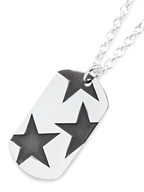 BIG THREE STAR PENDANT (SILVER IBUSHI)