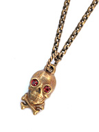 SKULL&BONE NECKLACE (Brass)