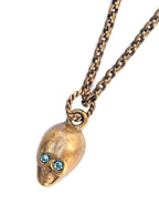 SKULL NECKLACE (Brass)