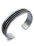TOM HAWK / 2 line Twist Rope Bangle 15mm