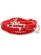 RED WHITE HEARTS NECKLACE [GDP-123]