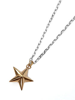 SILVER STAR NECKLACE (SILVER × GOLD STAR)