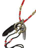 【it's12midnight Limited】 LYNCH × ROOSTERKING NAJA & W FEATHER NECKLACE