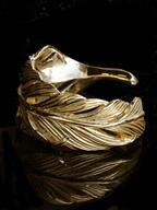 Small Owl Feather ring K10 Gold