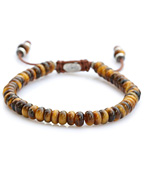 stacked tiger eye bead bracelet [B-102403-SLV-TIG]