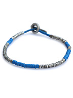 sterling silver with blue beads [B-103732-SLV-BLU]