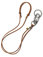 WICHARD DEER LEATHER KEY STRAP  (BRN)