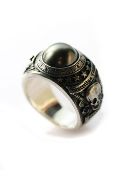BLACK PEARL RING -サファイア-