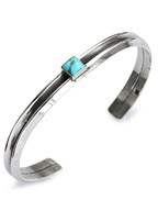 W triangle turquoise bangle