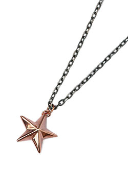 SILVER STAR NECKLACE (PINK GOLD×BLACK)