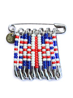SAFETY PIN BADGE UNION JACK
