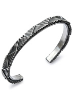 6mm Chevron Chain Bangle