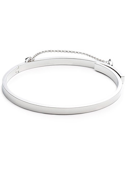 EXTRA THIN SAFETY CHAIN BRACELET (SILVER)