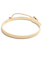 EXTRA THIN SAFETY CHAIN BRACELET (GOLD)