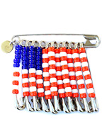 SAFETY PIN BADGE LARGE AMERICA