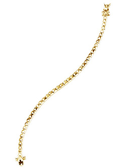 PYRAMID TENNIS BRACELET (GOLD)
