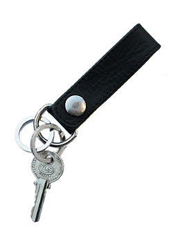 LEATHER KEYHOLDER (BLACK) / レザーキーホルダー
