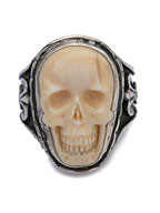 Large Skull Ring (Mammoth Ivory)