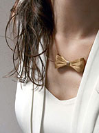 BOW NECKLACE / リボンネックレス