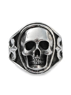 Sculpted Skull Ring - Silver