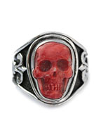 Sculpted Skull Ring - Spiney Oyster