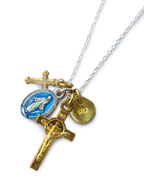 Medaille Miraculeuse Mix Necklace -Blue Epoxy- [16AHK-176]