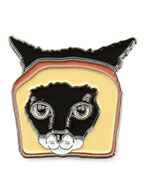 Toast Cat Pin